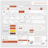 Web サイト設計ナビゲーション テンプレート要素のアイコンを設定で — ストックベクタ
