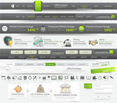 Web site design navigation template elements with icons set — Cтоковый вектор
