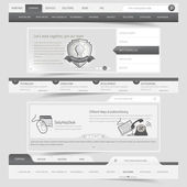 Ensemble navigation web design template — Vecteur