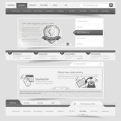Set di navigazione web design modello — Vettoriale Stock