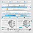 Stock Vector: Web design template elements with icon set