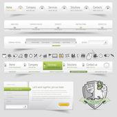 Sistema de navegación de plantilla de diseño web con icono — Vector de stock