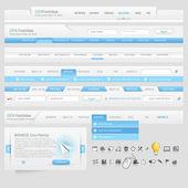 éléments de modèle de site web conception navigation avec ensemble d'icônes — Vecteur
