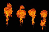 Fire on stage — Stock Photo