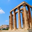 Temple of Olympian Zeus in Athens, Greece - Stock Photo