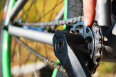 Bike parts and detales, chain — Stock Photo