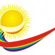 Sun and rainbow — Stock Photo