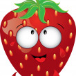 Clip Art Illustration of a Happy Strawberry with Juice Dripping — Stock Photo