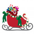 Clip Art Illustration of Santa's Sleigh with a Bag of Toys — Stock Photo #7296690