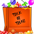 Clip Art Illustration of a Halloween Trick or Treat Bag Filled wi — Stock Photo #7296704