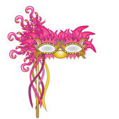 Clip Art Illustration of a Mardi Gras Mask — Stock Photo