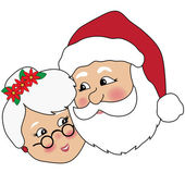 Clip Art Illustration of Mr And Mrs Claus — Stock Photo