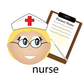 Clip Art Illustration of a Nurse Occupation Icon — Stock Photo