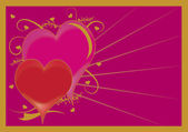 Clip Art Illustration of a Decorated Valentine Heart Graphic — Stock Photo