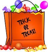 Ilustración del arte de clip de halloween truco o trato bolsa llena wi — Foto de Stock
