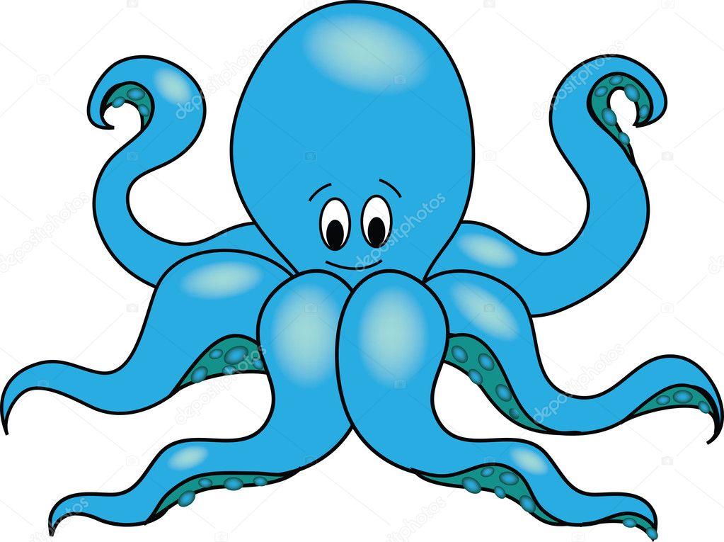 of a cartoon octopus  Octopus Cartoon Images