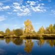 Lake Forest autumn. — Stock Photo