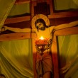 Foto Stock: Lamp at crucifixion.