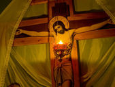 Lamp at the crucifixion. — Stock Photo