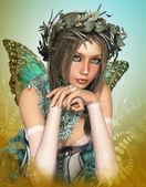 Butterfly Girl — Stock Photo