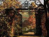 Entrance to the Park — Stock Photo