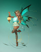 The turquois Pixie — Stock Photo