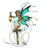 Turquoise Pixie — Stock Photo