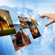 Stock Photo: World cloud technology, Background concept