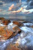 Морские камни на закате - Сидней Австралия — Стоковое фото