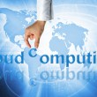 Royalty-Free Stock Photo: Cloud computing concept - world wide data sharing and communication