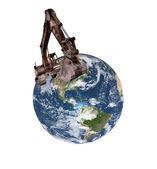 Excavador de la tierra — Foto de Stock