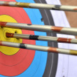 Target with arrows — Stock Photo