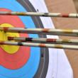 Stock Photo: Target with arrows