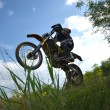 Moto jumping — Stock Photo