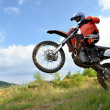 Stock Photo: Moto jumping