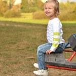 Baby on the playground — Stock Photo
