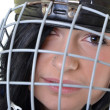 Stock Photo: Womhockey player