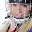 Woman hockey player — Stock Photo #7084694