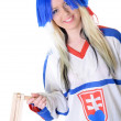 Ice hockey fan — Stockfoto