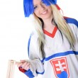 Eishockey fan — Stockfoto