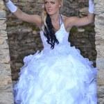 美丽的新娘的肖像 — 图库照片