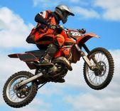 Mx rider skákání — Stock fotografie