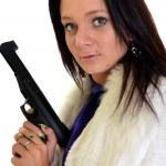 Woman with gun — Stock Photo #7181317