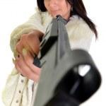 Woman with gun — Stock Photo #7181324