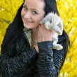 Beautiful girl with rabbit — Stock Photo #7221510