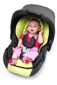 Baby in car seat — Stock Photo