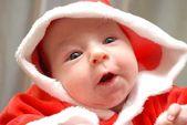 Baby santa isoliert — Stockfoto