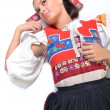 Traditional slovakian woman — Stock Photo