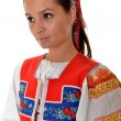 Attractive woman wears Slovakian national dress — Stock Photo