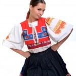 Traditional slovakian woman — Stock Photo